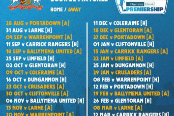 Glenavon to kick off new season with Mid-Ulster derby
