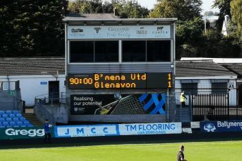Late goal denies Glenavon at Ballymena Showgrounds