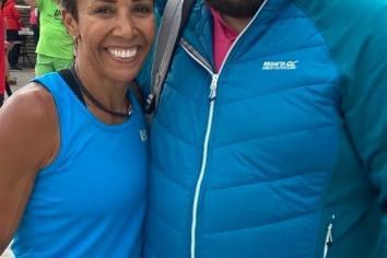 Dame Kelly Holmes surprises runners at Craigavon park run